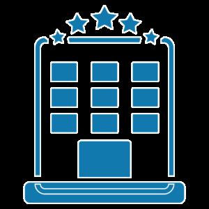 icone hotéis e edifícios